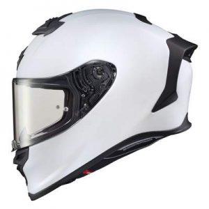 Scorpion Exo R1 Air solid white motogp helmet side view