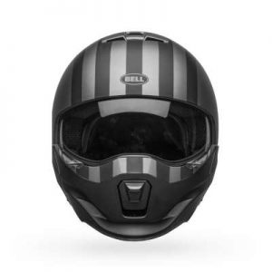 bell broozer modular motorbike helmet free ride front view