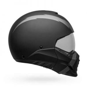 bell broozer modular motorcycle helmet arc matte black side view