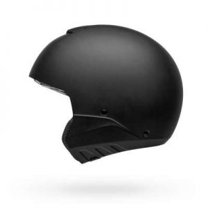bell broozer modular motorcycle helmet matte black side view