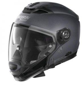 Nolan N70-2 GT flat graphite grey helmet side view