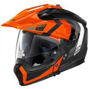 Nolan-N70-2-X-Decurio-orange-adventure-helmet-side-view