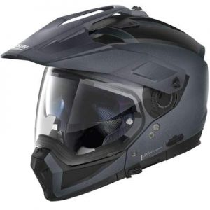 Nolan N70-2 X black graphite helmet side view
