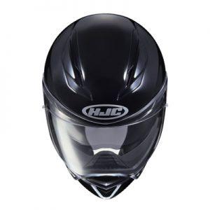 hjc-f70-solid-gloss-black-motorcycle-crash-helmet-top-view