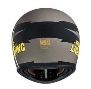 Nexx-XG200-star-race-retro-helmet-concrete-rear-view