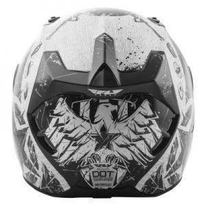 fly racing street revolt fs liberator snell helmet rear view
