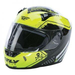 fly racing street revolt fs motorcycle helmet patriot hi viz crash helmet side view