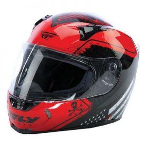fly racing street revolt fs patriot red crash helmet side view