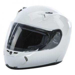 fly racing street revolt fs solid gloss white helmet side view