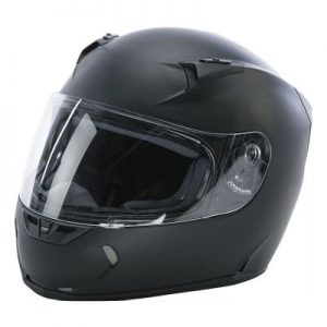 fly racing street revolt fs solid matte black helmet side view
