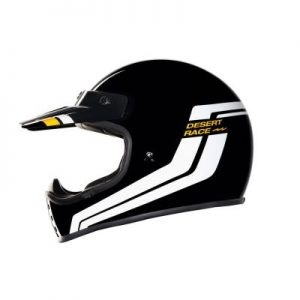 nexx xg200 desert race black retro helmet side view