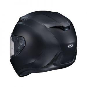 HJC i10 semi flat black crash helmet rear view