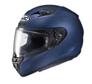 HJC i10 semi flat blue helmet side view