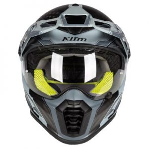 Klim Krios pro adventure helmet aresenal grey front view