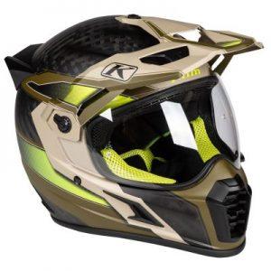 Klim Krios pro dual sport helmet aresenal dune side view