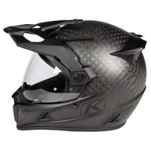 Klim Krios pro dual sport helmet matte black side view