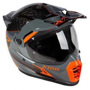 Klim Krios pro helmet Loko Striking Gray side view