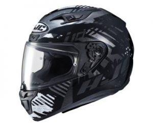 hjc i10 motorcycle helmet fear graphics side view