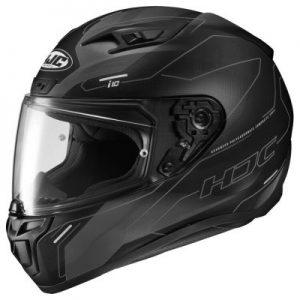 hjc i10 motorcycle helmet taze black design side view