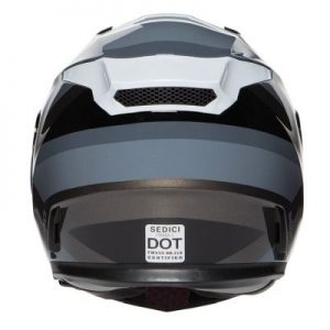 sedici strada II dino helmet rear view