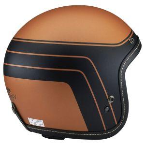 arai classic v blitz brown copper open face helmet side view