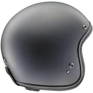 arai classic v frost black open face helmet side view