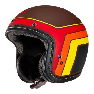 arai urban v blitz brown open face helmet side view