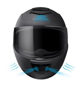 sena momentum evo helmet front view ventilation