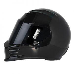 Simpson-speed-bandit-helmet-gloss-black-side-view