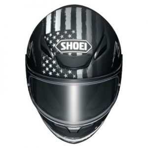 shoei rf-1400 dedicated 2 motorcycle helmet top view