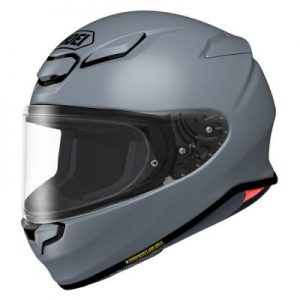 shoei rf-1400 helmet basalt grey side view