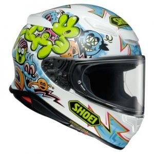 shoei rf-1400 helmet mural graphics side view