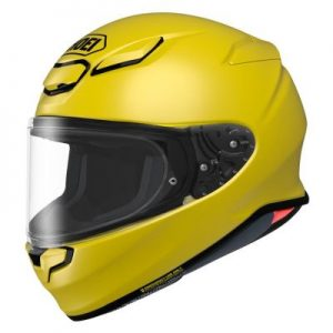 shoei rf-1400 helmet solid yellow side view