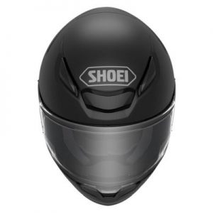 shoei rf-1400 matte black motorcycle helmet top view