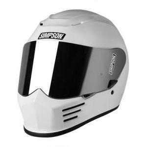 simpson-speed-bandit-helmet-gloss-white-front-view