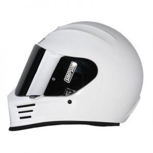 simpson-speed-bandit-helmet-gloss-white-side-view