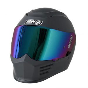 simpson-speed-bandit-motorcycle-helmet-matte-black-front-view