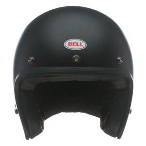bell custom 500 dlx matte black open helmet front view