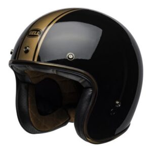 bell custom 500 rally black bronze open face front view