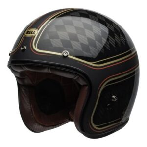 bell custom 500 rsd checkmate open face helmet front view