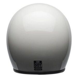 bell custom 500 vintage white helmet rear view