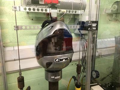 Flat-anvil-helmet-testing