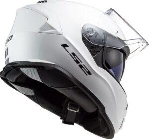 LS2 FF800 assault full face helmet white rear view
