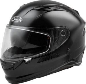 Gmax FF-98 motorcycle helmet gloss black side view