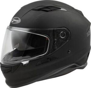 Gmax FF-98 motorcycle helmet matte black side view