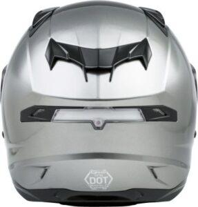 Gmax FF-98 motorcycle helmet titanium rear view