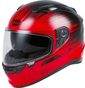Gmax FF-98 reliance graphic motorcycle helmet side view