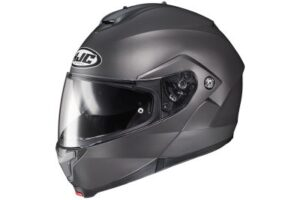 HJC C91 titanium modular motorcycle helmet side view