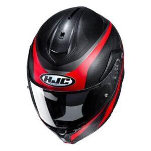 hjc c91 taly black grey helmet top view